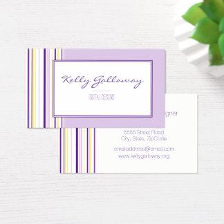 Lavendel Stripes Visitenkarten