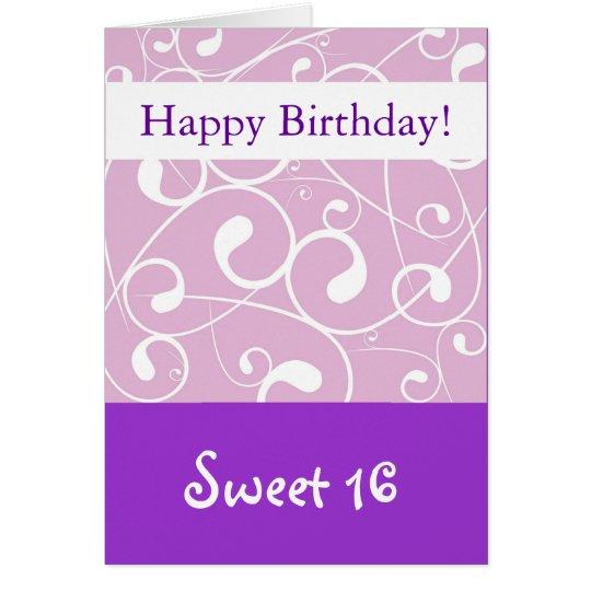 Lavendel-Strudel, alles- Gute zum Geburtstagbonbon Grußkarte