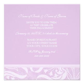 Lavendel-Strudel-Verlobungs-Party Einladungen