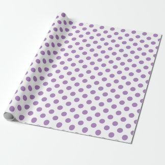 Lavendel-Tupfen auf Weiß Geschenkpapier