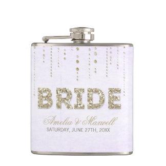 Lavendel-u. GoldGlitter-Blick-Braut-Flasche