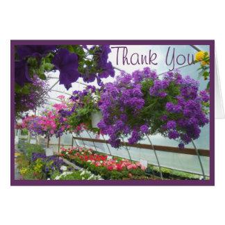 Lavendel-Verbene-lila Petunien Karte