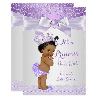 Lavendel-weiße lila Prinzessin Babyparty ethnisch Karte