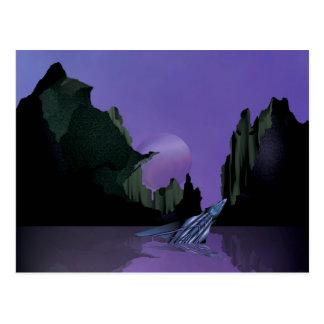 Lavendel-Welt - der Preis von Power Postkarte
