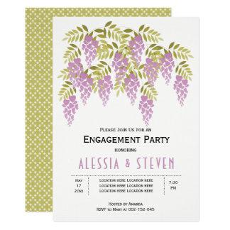 Lavendel Wisteriablumenhochzeits-Verlobungs-Party 12,7 X 17,8 Cm Einladungskarte