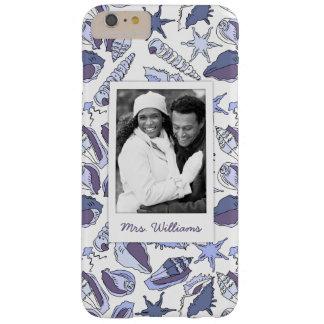 LavendelSeashells | Ihr Foto u. Name Barely There iPhone 6 Plus Hülle