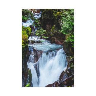 Lawinen-Nebenfluss-Glacier Nationalpark Leinwanddruck