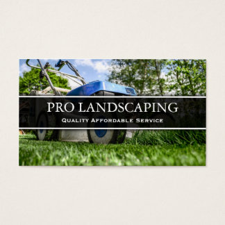 Lawn Mower Gardener / Landscaping Business Card Visitenkarte
