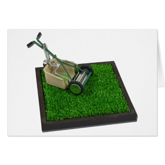 LawnmowerOnTheGrass100711 Grußkarte