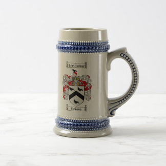 Lawson-Wappen Stein/Lawson-Familienwappen Bierglas