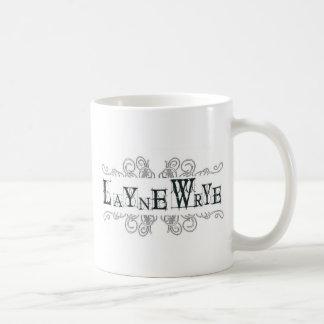 Layne Wrye Logo-gotische Schrift Tasse