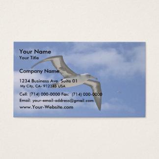 Laysan Albatrosfliegen in einer Luft Visitenkarte