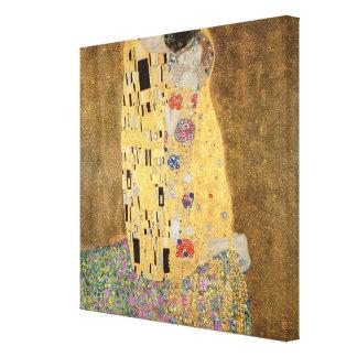 Le baiser, 1907-08 impressions sur toile