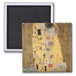 Le baiser, 1907-08 magnet carré
