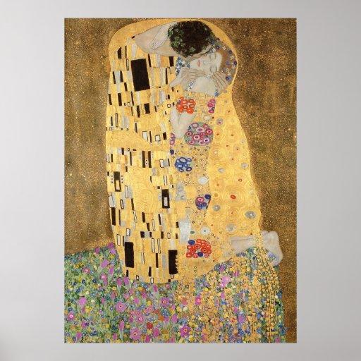 Le baiser, 1907-08 poster