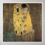 Le baiser, Gustav 1907-08 Klimt Affiche