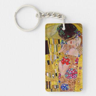 Le baiser par Gustav Klimt, art vintage Nouveau Porte-clefs