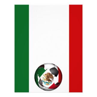 Le ballon de football w/Flag du Mexique colore l'a Prospectus