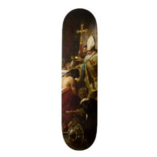 Le baptême de Vajk par Gyula Benczúr (1875) Skateboards Customisés