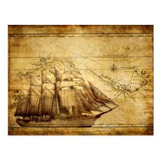 Le bateau de carte du monde le plus ancien