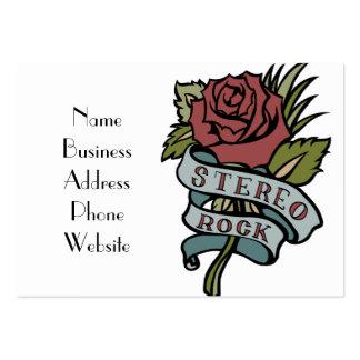 """le beau tatouage fleurit le rouge et le vert """" de carte de visite grand format"""