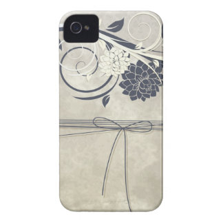 Le bleu fleurit la caisse iPhone4 Coques iPhone 4
