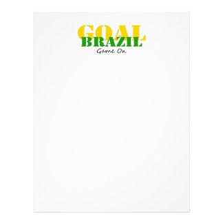 Le Brésil - jeu de but dessus Prospectus En Couleur