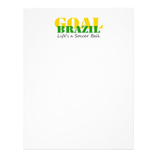 Le Brésil - la vie est un ballon de football Tract Customisé