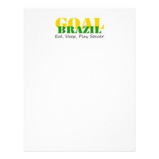 Le Brésil - mangez le football de jeu de sommeil Prospectus Personnalisés