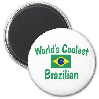 Le Brésilien le plus frais du monde Magnet Rond 8 Cm