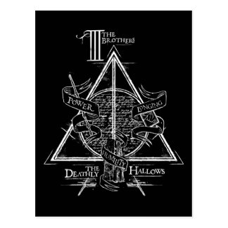 Le charme   de Harry Potter DE MORT SANCTIFIE le Carte Postale