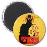 Le Chat Noir - Action De Grâces Magnet Rond 8 Cm