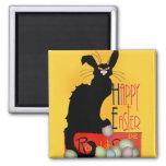 Le Chat Noir - Joyeuses Pâques Magnet Carré