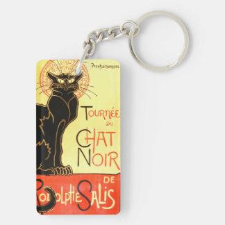 Le chat noir, ursprüngliche Anschlagtafel Schlüsselanhänger