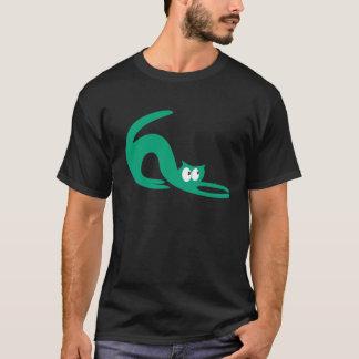 Le chat que le vert de bout droit recherchent t-shirt