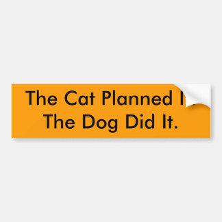 Le chien d'It.The prévu par chat l'a fait Autocollant Pour Voiture