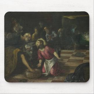 Le Christ lavant les pieds de disciples par Tintor Tapis De Souris