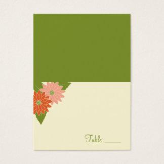 Le chrysanthème a plié la carte d'endroit -