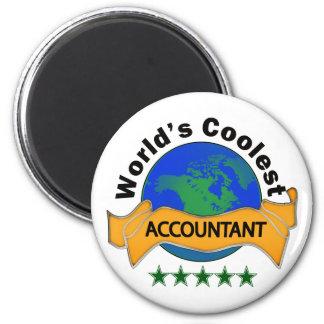 Le comptable le plus frais du monde magnet rond 8 cm