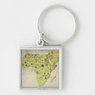 Le continent de l'Afrique Porte-clef
