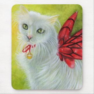 Le cramoisi de Kitty de Noël s'envole Mousepad Tapis De Souris