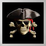 Le crâne de pirate de jolly roger posters