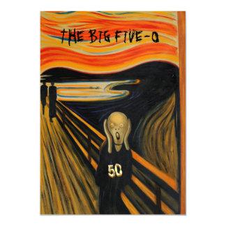 Le cri perçant - cinquantième anniversaire drôle carton d'invitation  12,7 cm x 17,78 cm