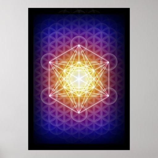 Le cube/fleur de Metatron de l'affiche de la vie