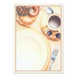 Le © de club de petit déjeuner carton d'invitation  12,7 cm x 17,78 cm