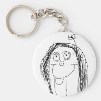 Le dessin de votre enfant - cadeau du jour de mère porte-clé rond