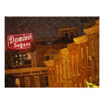 Le domino de Baltimore sucre l'affiche de peinture