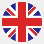 Le drapeau d'Union Jack Adhésifs Ronds