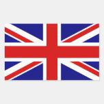 Le drapeau d'Union Jack Stickers En Rectangle