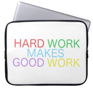Le dur labeur fait le bon travail protection pour ordinateur portable